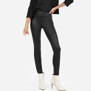 Express women's black vegan leather leggings